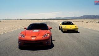 Showdown - 2013 Chevrolet Corvette ZR1 Vs. 2013 Chevrolet Corvette Z06 - CAR And DRIVER