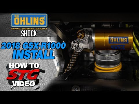 Ohlins 2018 Suzuki GSX-R1000 Shock Install | Sportbike Track Gear