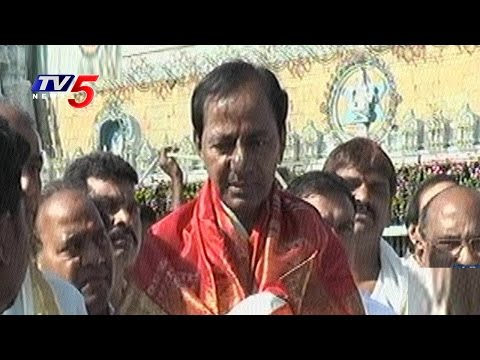 CM KCR Speaks To Media After Lord Balaji Darshan | Tirumala
