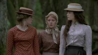 Angel Clare (Eddie Redmayne) carries the milkmaids Tess (Gemma Arterton), Retty (Emily Beecham), Izzy (Jodie Whittaker), Marion (Rebekah Staton) across ...