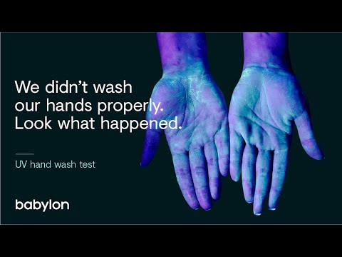 Coronavirus | Why it's important to wash your hands properly - UV experiment