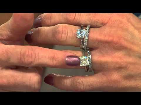 Ships 6/6/15 Epiphany Diamonique 100-Facet 2-pc. Bridal Ring Set with Shawn Killinger