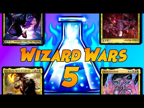 Wizard Wars #5 Tribal Commander Game play | Ninjas, Vampires, Knights, and Slivers| Wizard Wars #5 |