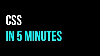 CSS in 5 minutes | Styling Tutorial | Code in 5