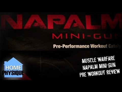 Muscle Warfare Napalm Mini Gun | Pre Workout Supplement Review