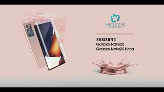 video thumbnail Galaxy Note20 Ultra Dome Glass Tempered Glass Screen Protector youtube