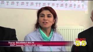 HDP ÜYELERİ SAMSUN'DA MİLLETVEKİLİ ADAYLARINI TANITTI