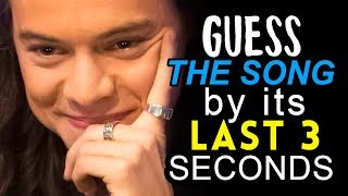 GUESS THE ONE DIRECTION SONG BY ITS LAST 3 SECONDS