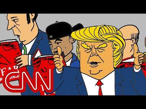 Trump making America read again - Drawn by Jake Tapper
