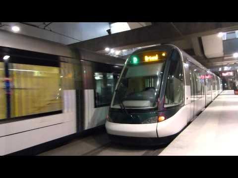 Tram et BHNS à Strasbourg 7 12 2013.