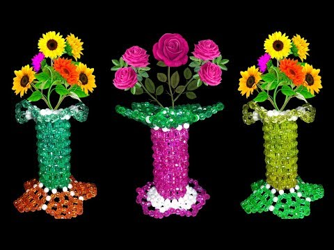 How To Make A Flower Vase Out Of Beads Flowers Healthy