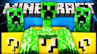 Minecraft Lucky Block - MUTANT CREEPER (Challenge)! - (Luck Block Mod Battle)