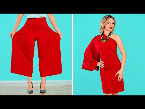FASHION HACK AND CLOTHES DIY TRICKS Smart Tips For Girls by 123 GO