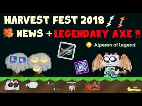 Harvest Fest + News and Legendary Axe !! | GrowTopia (видео)