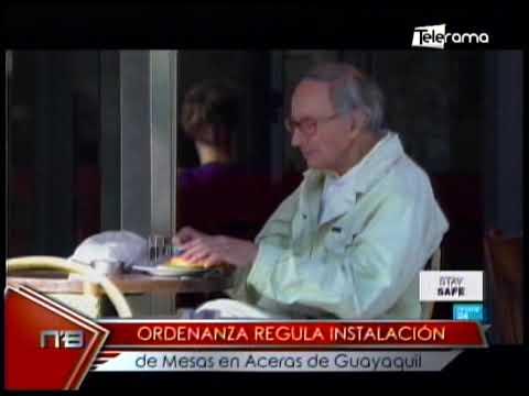 Ordenanza regula instalación de mesas en aceras de Guayaquil