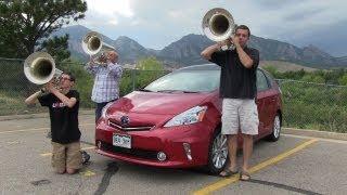 2012 Toyota Prius V Hybrid Put To The TFLcar Tuba Test&Review