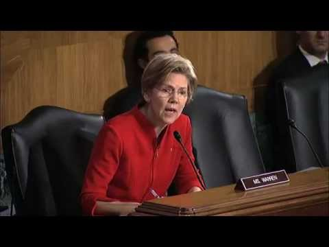 Elizabeth Warren - From CSpan: February 14, 2013. Senate Banking Committee Hearing. The Senate Banking Committee hears an update from regulators on the implementation of the Do...
