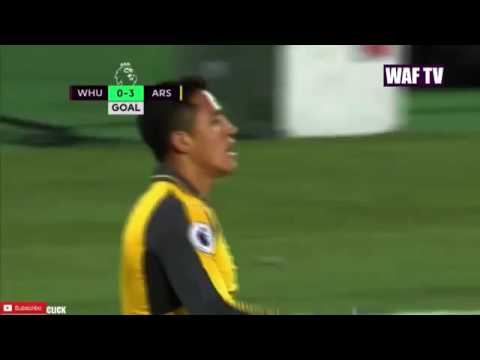 Alexis Sánchez Second Goal   West Ham United Vs Arsenal 0 3
