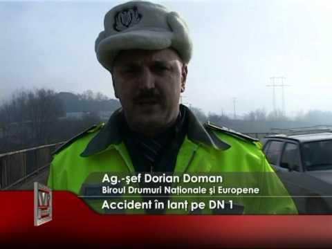 Accident în lanţ pe DN 1