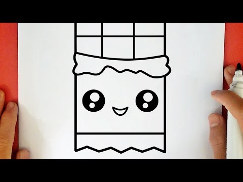 COMO DIBUJAR UNA BARRA DE CHOCOLATE KAWAII