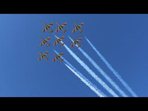 FRECCE TRICOLORI - ADDESTRAMENTO LIGNANO E RIVOLTO 23/03/2021 видео