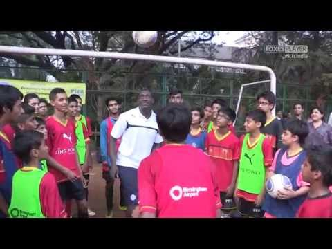 Heskey Visits The PIFA Foundation In Mumbai