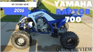 10. YAMAHA RAPTOR 700R 2016 BRAND NEW