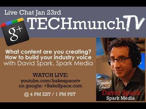 How to become an Influencer with David Spark #Techmunch