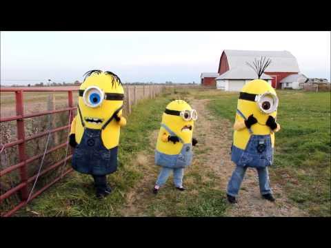 Homemade Despicable Me minion costumes