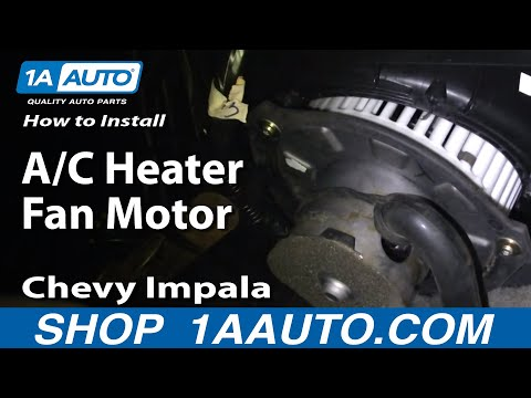 How To Install Repair Replace A/C Heater Fan Motor Chevy Impala 00-03 1AAuto.com