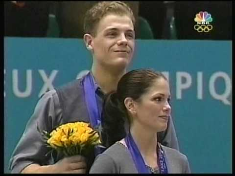 Pairs Figure Skating Gold - Salt Lake City, Utah, USA - 2002 Winter Games, Figure Skating, Pairs' Free Skate - Part 1 of 2 of the Medal Award Ceremony where Russia's Berezhnaya & Sikhar...