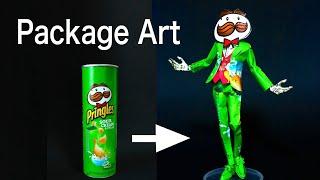 プリングルスの空箱で工作しました!Made with the Pringles package