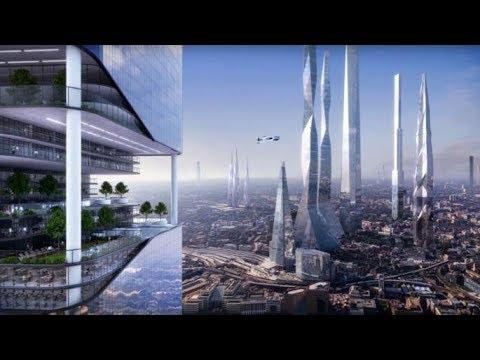 2018年有兩名時空旅行的男子,拍到幾千年後的未來城市照片!