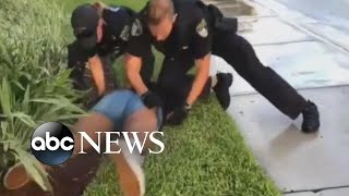 Video shows a Florida police officer hitting a 14-year-old during arrest
