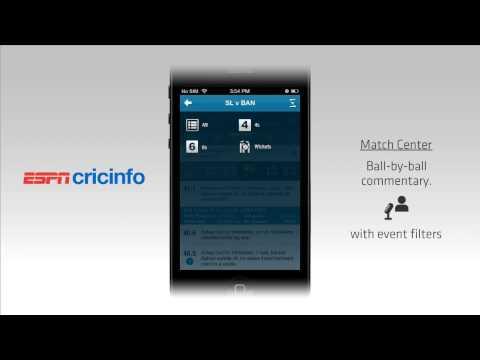 Video of The ESPNcricinfo Cricket App