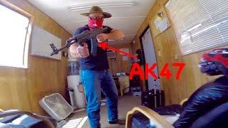 HELD DOWN AT GUN POINT!!