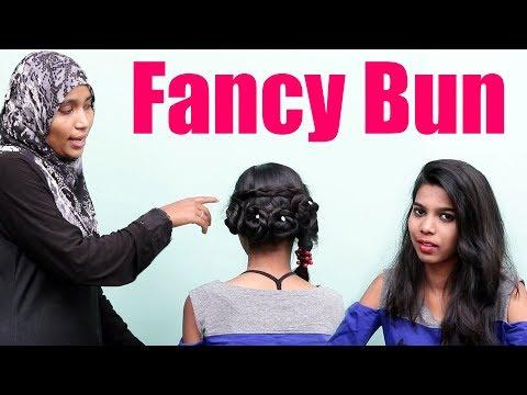 Hairstyles for long hair - Cute Bun Hairstyles for Girls  Fancy Bun Hairstyle for long Hair  Baby Hairstyles