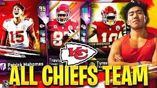ALL TIME KANSAS CITY CHIEFS TEAM! PATRICK MAHOMES & MORE! Madden 19 Ultimate Team