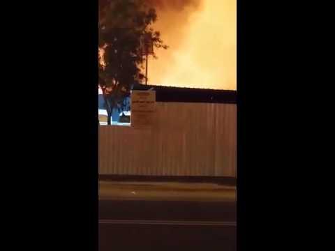 حريق هائل يلتهم مخيمات الحجاج بـ  عرفات