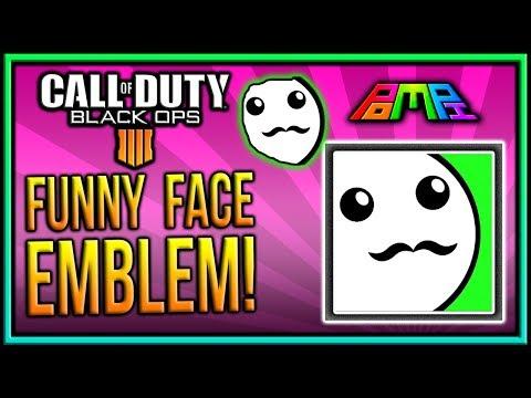 EASY FUNNY FACE EMBLEM: COD BO4 Funny Face Emblem Tutorial! Easy Funny Emblem! PomPi