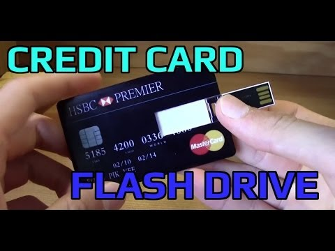 Ultra thin MASTERCARD Credit Card FLASH DRIVE 32 GB!! Unboxing Showcase