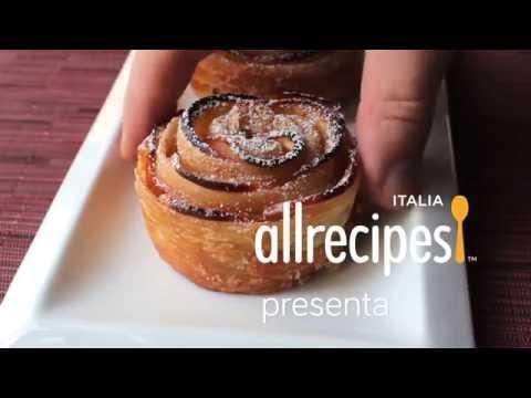 roselline di mele in pasta sfoglia - ricetta