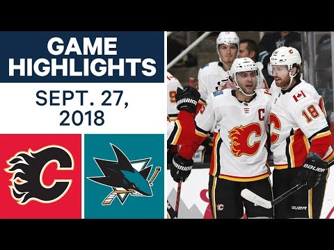 Video: NHL Pre-season Highlights | Flames vs. Sharks - Sept. 27, 2018