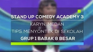 Video Stand Up Comedy Academy 3 : Karyn, Medan - Tips Menyontek Di Sekolah MP3, 3GP, MP4, WEBM, AVI, FLV Mei 2019