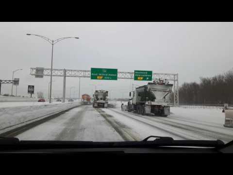 Sistema de limpieza de nieve - Québec, Canadá
