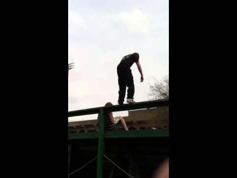 Skatepark backflip