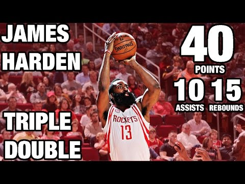 James Harden 40-Point Triple Double in Back to Back Games
