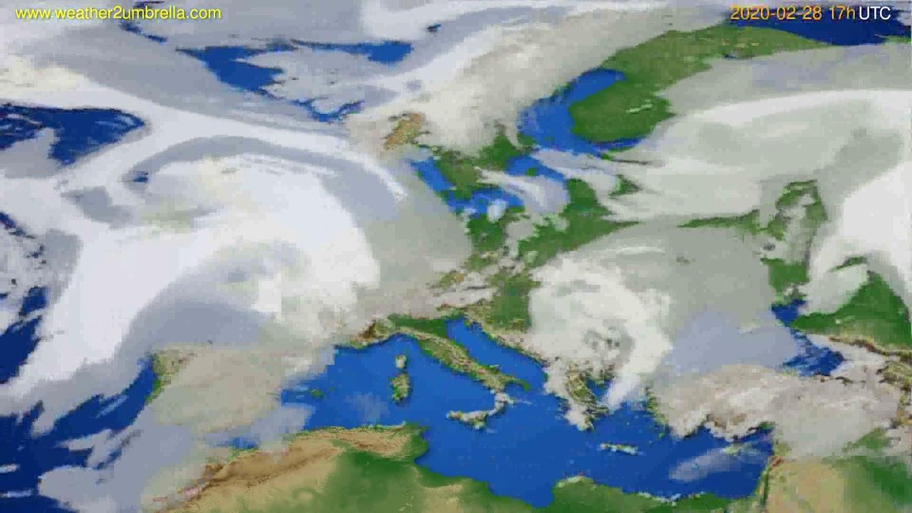 Cloud forecast Europe // modelrun: 12h UTC 2020-02-27