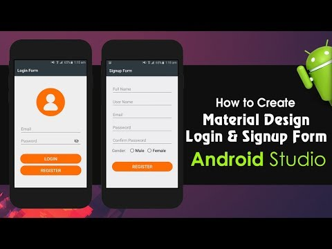 Android Studio Tutorial - How to Create Material Design Login and Signup Form