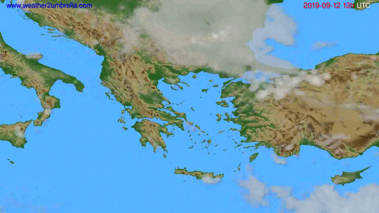 Cloud forecast Greece // modelrun: 12h UTC 2019-09-10